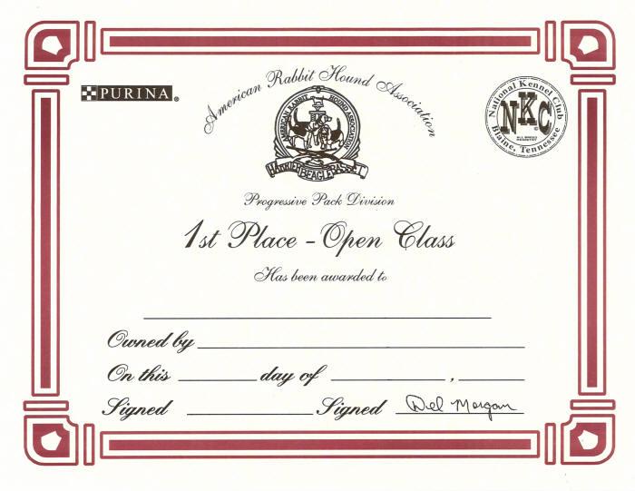 arha hunt certificate